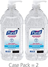 PURELL Advanced Hand Sanitizer, Refreshing Gel, 2 Liter Hand Sanitizer Table Top Pump Bottles (Pack of 2) - 9625-02-EC