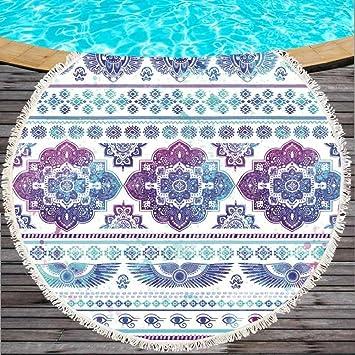 CLEAME Toalla de Playa Extra Grande con Borla para Adultos, esterillas de Yoga, Toallas de baño, Tapiz, Microfibra, Protector Solar, Cubierta de Playa: ...