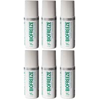 Biofreeze Pain Relieving Colorless Roll-On 3oz - Pack of 6