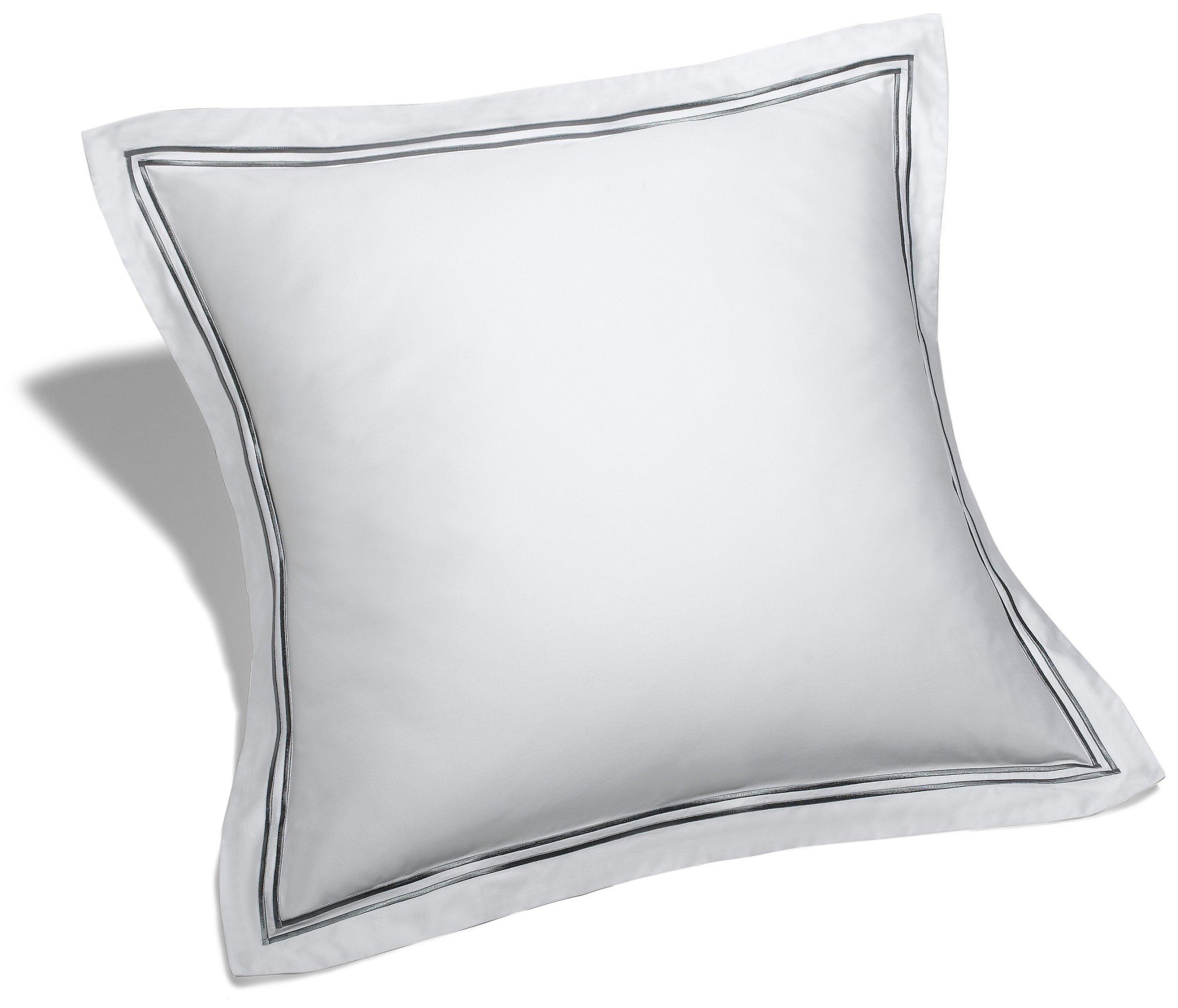 Pinzon 400-Thread-Count Egyptian Cotton Sateen Hotel Stitch Sham - European, Silver Grey by Pinzon by Amazon