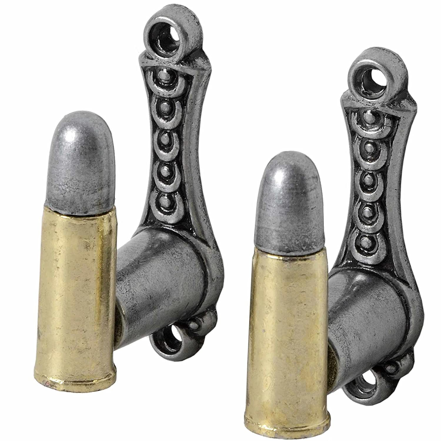 Hill Interiors Bullet Design Gun Wall Mounts (Pack Of 2) (One Size) (Silver) UTHI969_1