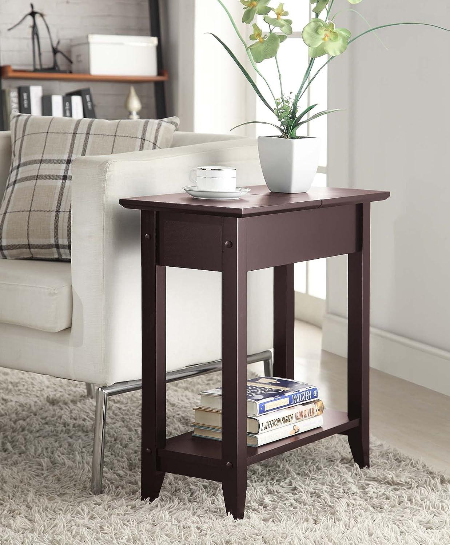 Amazon.com: Convenience Concepts American Heritage Flip Top End Table,  Espresso: Kitchen U0026 Dining