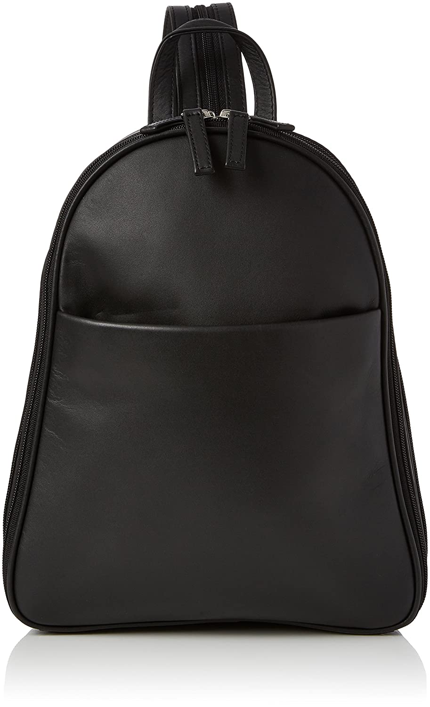 Visconti Back Pack Handbag - Atlantic 18052 Angel - Leather- Black