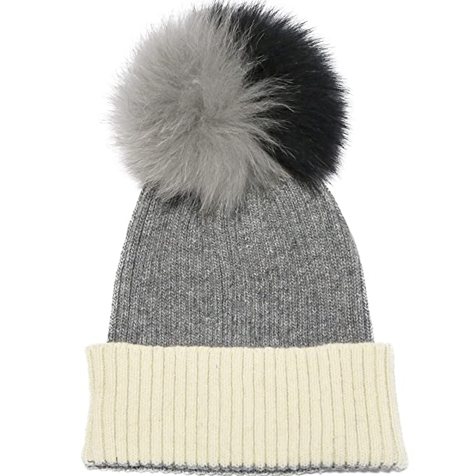 0dec653af747a Guinggotts Knit Hat Fur Pom Pom Beanie Pom Hat Knit Beanie Hats for Women  Winter Warm