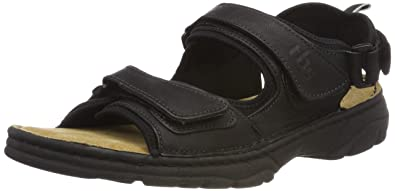 Mens Requin Open Toe Sandals, Black TBS