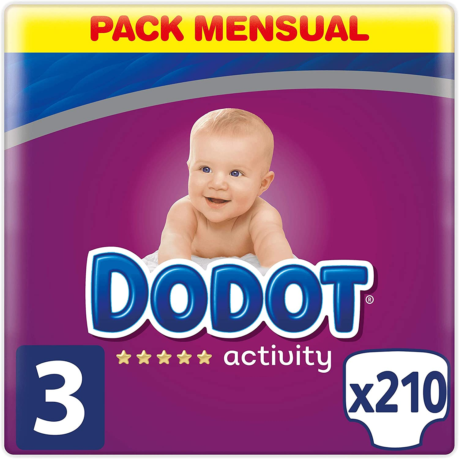 Dodot activity talla 3 210 pañales