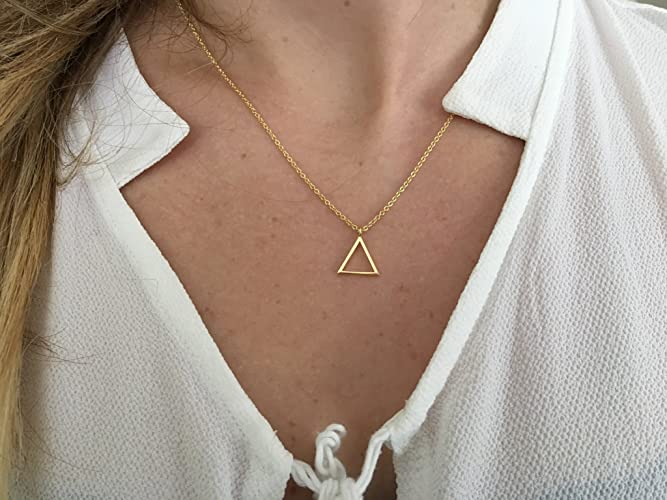 Amazon com: Triangle Necklace-Alchemy Necklace-Element
