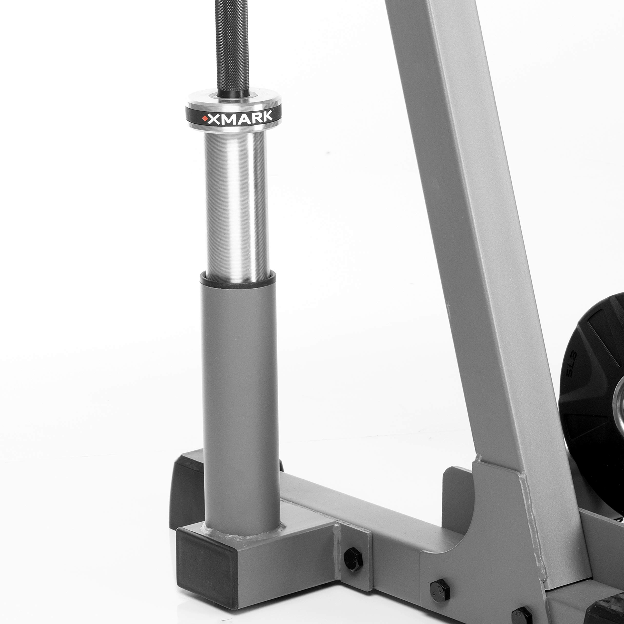 XMark All-in-One Dumbbell Rack, Plate Weight Storage and Dual Vertical Bar Holder, Design Patent Pending by XMark (Image #3)