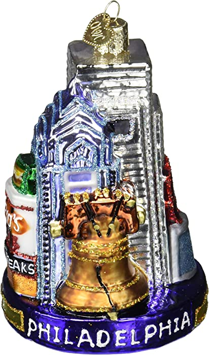 Old World Christmas Cities, Places and Landmarks Glass Blown Ornaments for Christmas Tree Philadelphia