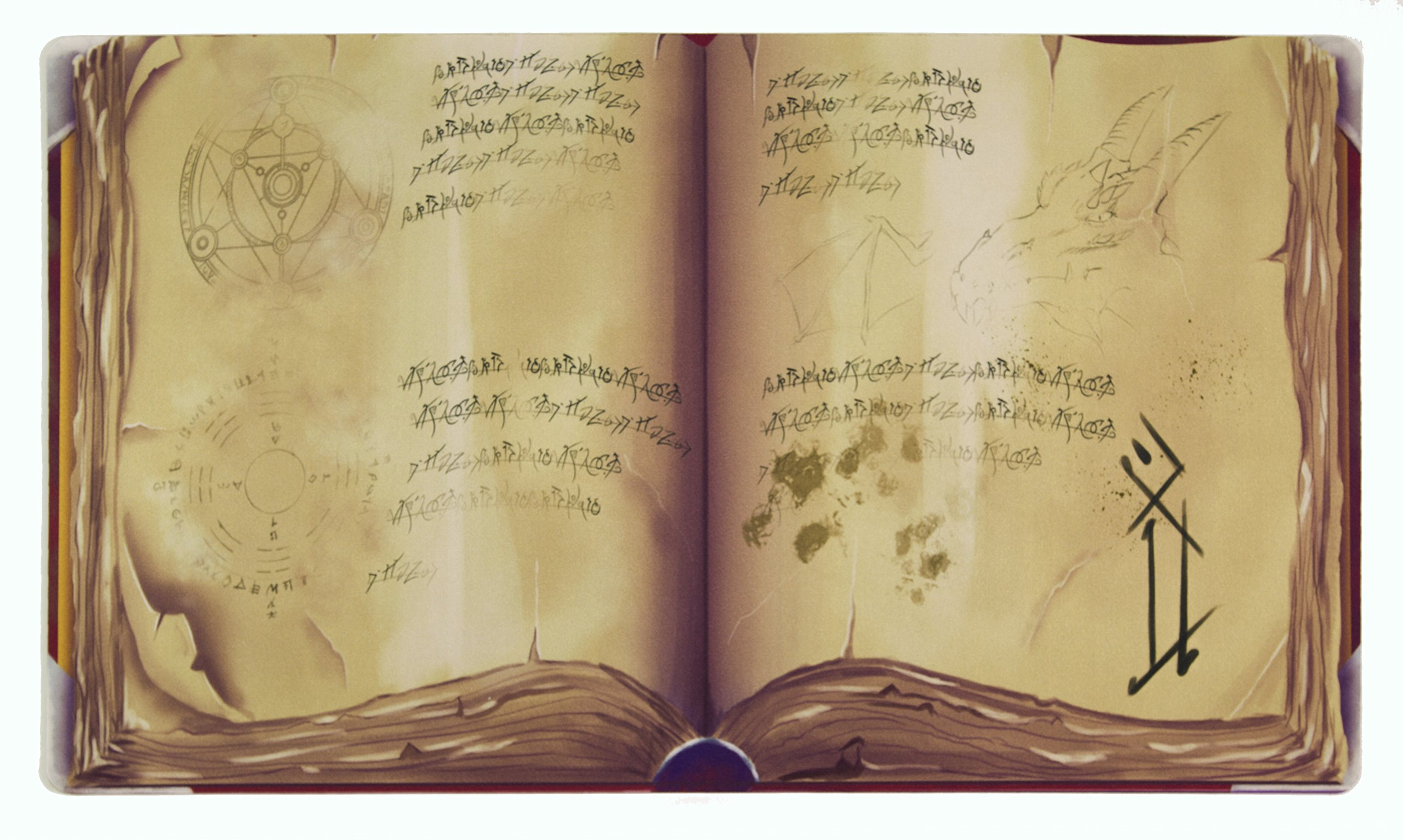 Inked Playmats Spellbook Card Playmat Inked Gaming Perfect for Card Gaming TCG Game Mat