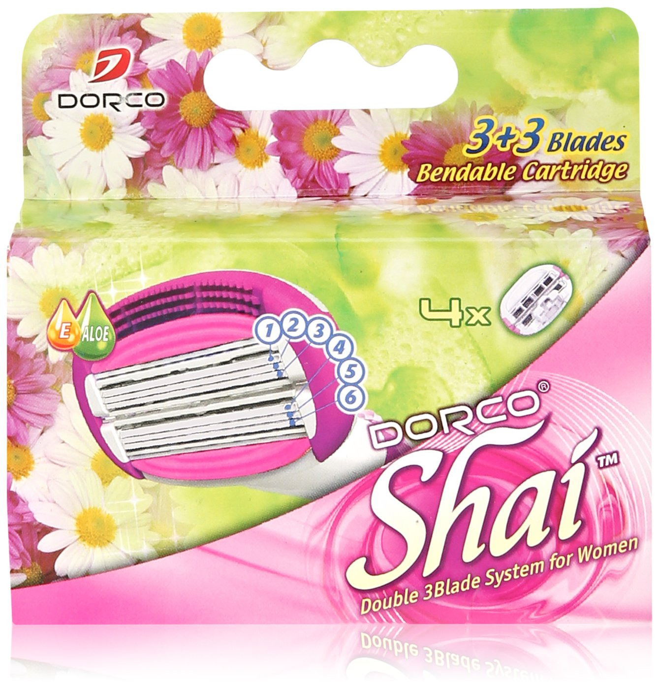 Soft Touch™ 6 Blade Razor System for Women Cartridges (Dorco Shai)(LSXA1040)