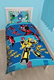 """Character World 91 cm Single """"Transformers Disguise"""" Rotary Duvet Set, Multi-Colour"""
