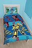 """Character World 91cm Single """"Transformers Disguise"""" Parure de lit réversible Multicolore"""
