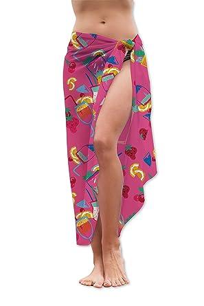 d04e595b38999 PERSONALISED PINK COCKTAILS HEN DO DESIGN CHIFFON MEDIUM LENGTH SARONG  SWIMWEAR BEACH COVER UP WRAP: Amazon.co.uk: Clothing