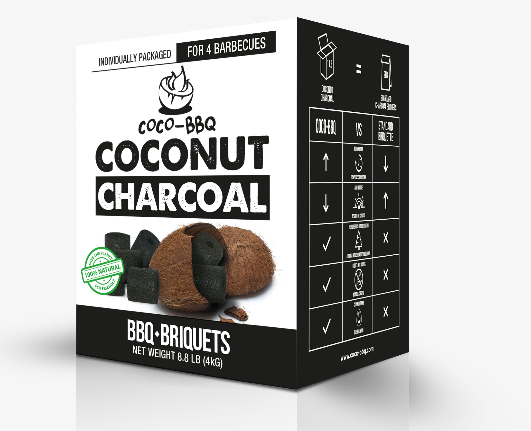 COCO-BBQ Eco-Friendly Barbecue Charcoal Made from Coconut Shells for Low and Slow Grilling by COCO-BBQ (Image #4)