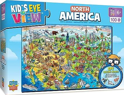 MasterPieces Kids Eye View North America - 100 Piece Kids Puzzle