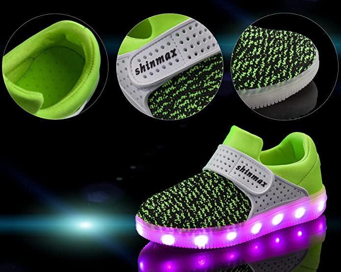 Amazon.com | Shinmax Light up Shoes, LED Shoes Led Sneakers Breathable 7 Colors Light Shoes for Men& Women, Kid Shoes | Fashion Sneakers