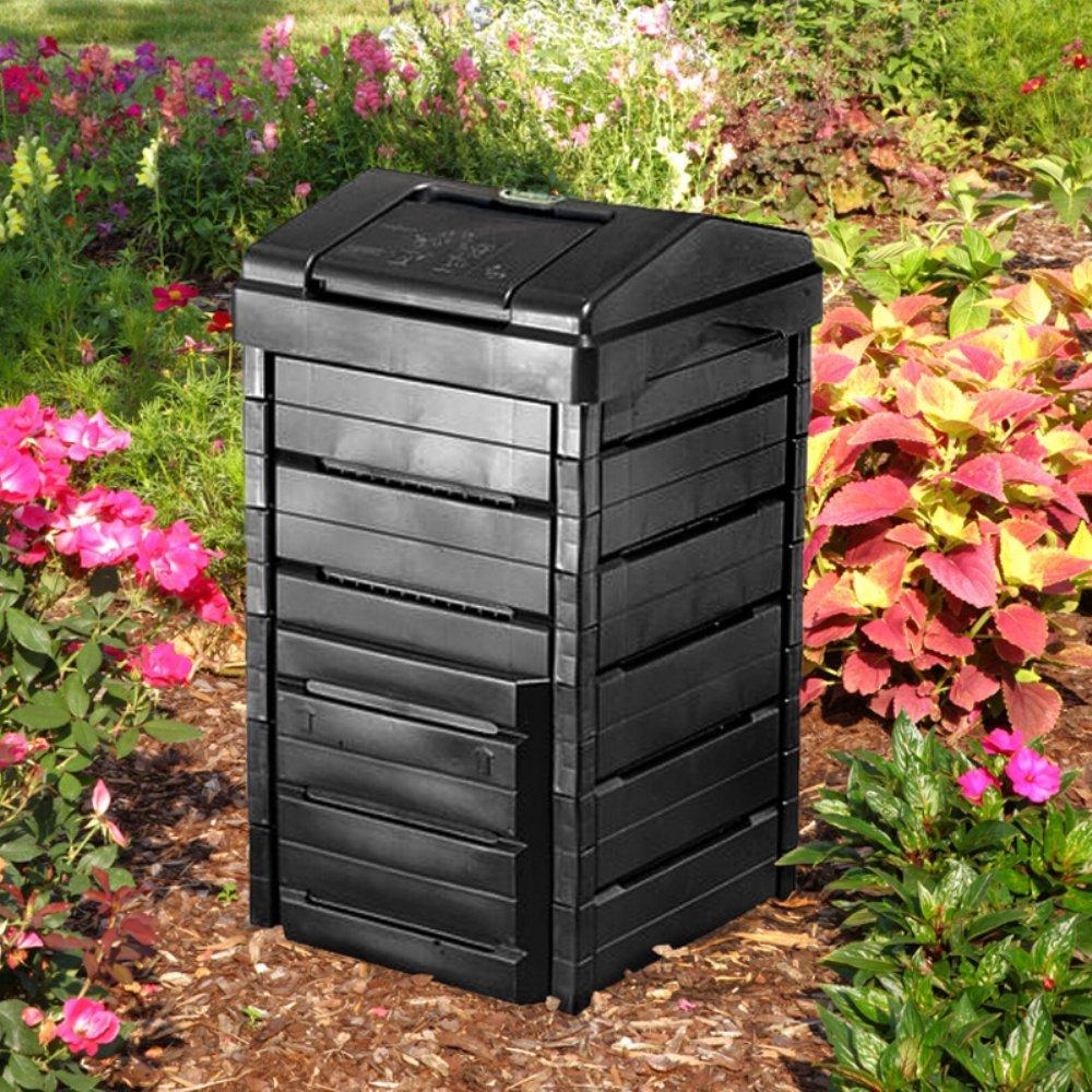 Jardín plástico reciclado 82 gallon{1} Gourmet compostaje ...