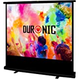 Duronic FPS100 /43 Ecran de projection à piètement / autoportatif de 100 pouces 4:3 / 203 x 152 cm - 4K Full HD 3D