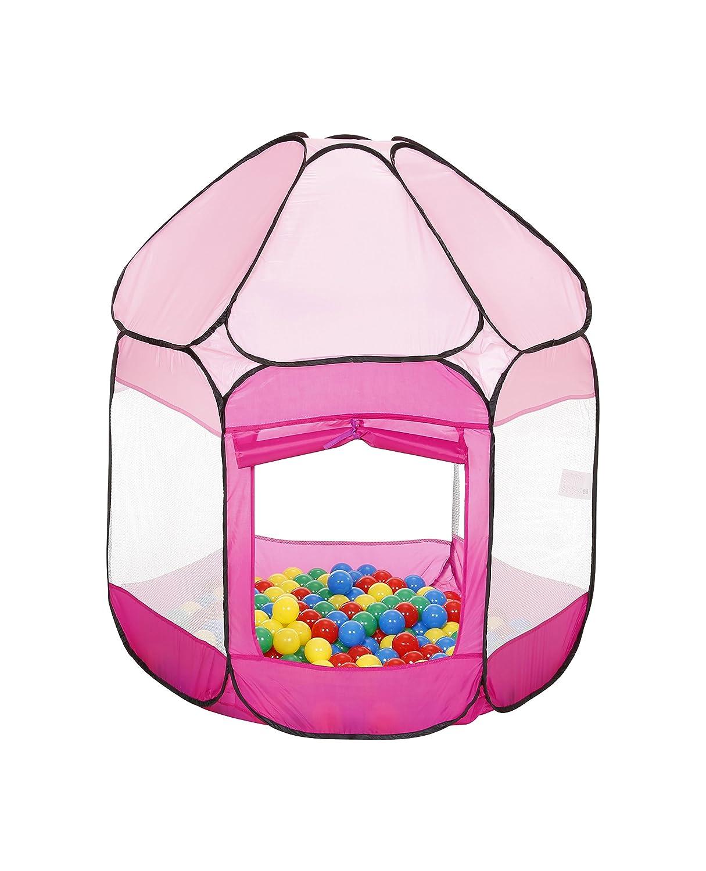 Knorrtoys 55308 - Bällebad inklusive 250 Bälle, pink knorr toys knoortoys_55308