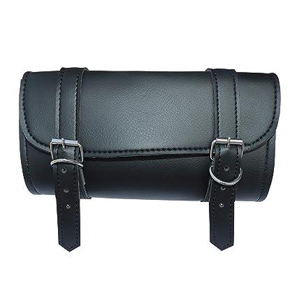 a849253fdb5 Amazon.com: DEFY Motorcycle Tool Bag Handlebar Saddle Bag PU Leather  Storage Tool Pouch 2 Strap Closure: Automotive