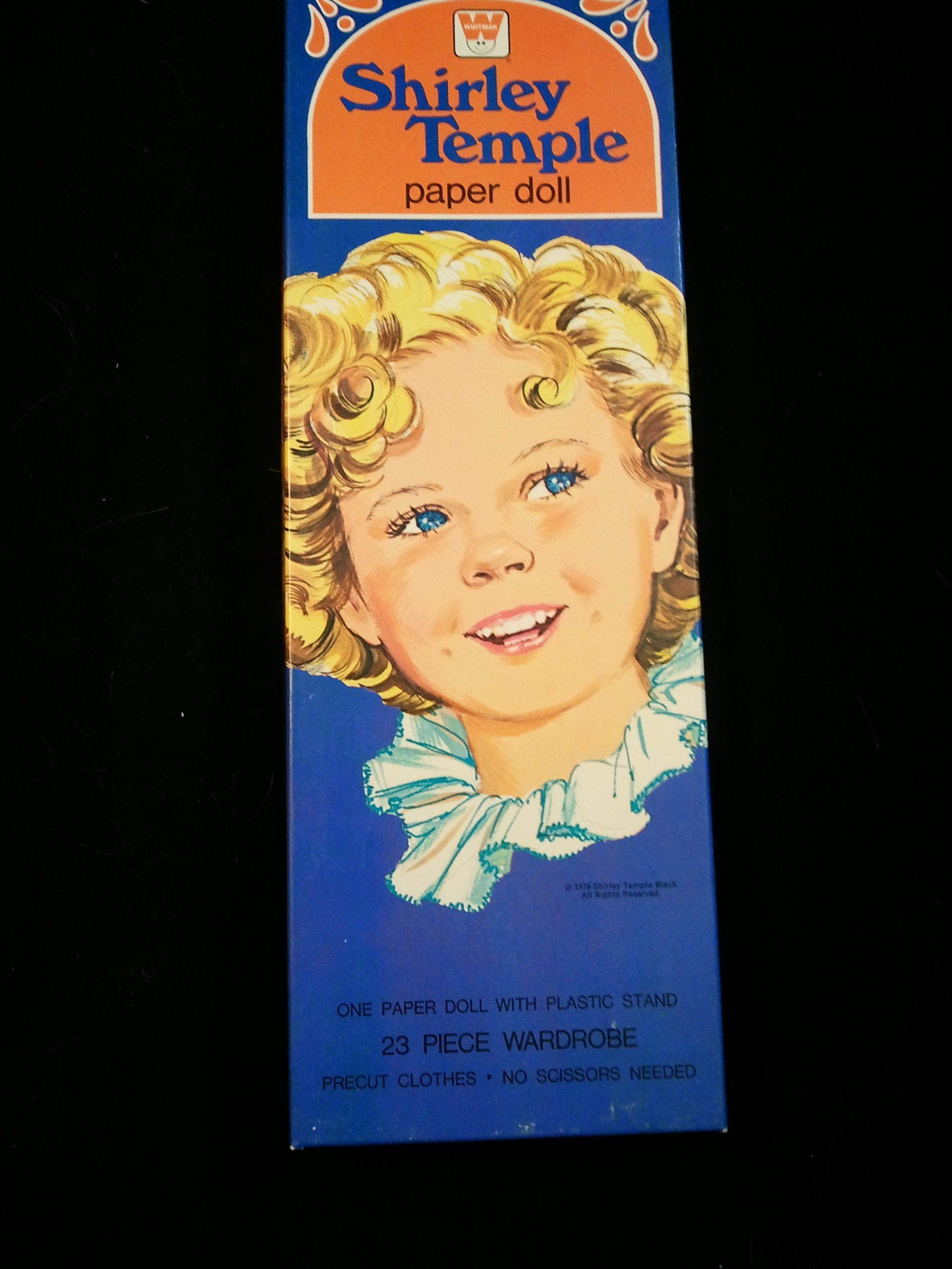 Vintage Whitman Shirley Temple Paper Doll with 23 Piece Wardrobe