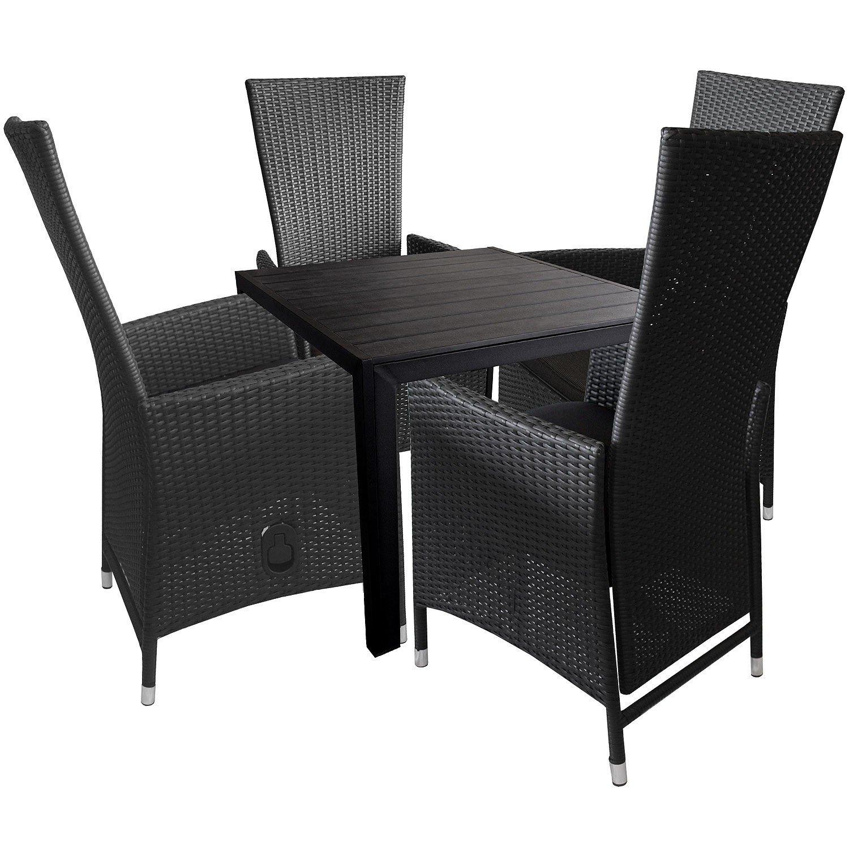 5tlg Gartengarnitur Sitzgruppe Sitzgarnitur Terrassenmöbel