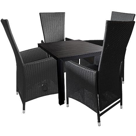 5 piezas. y sillas para jardín Terraza Muebles aluminio ...
