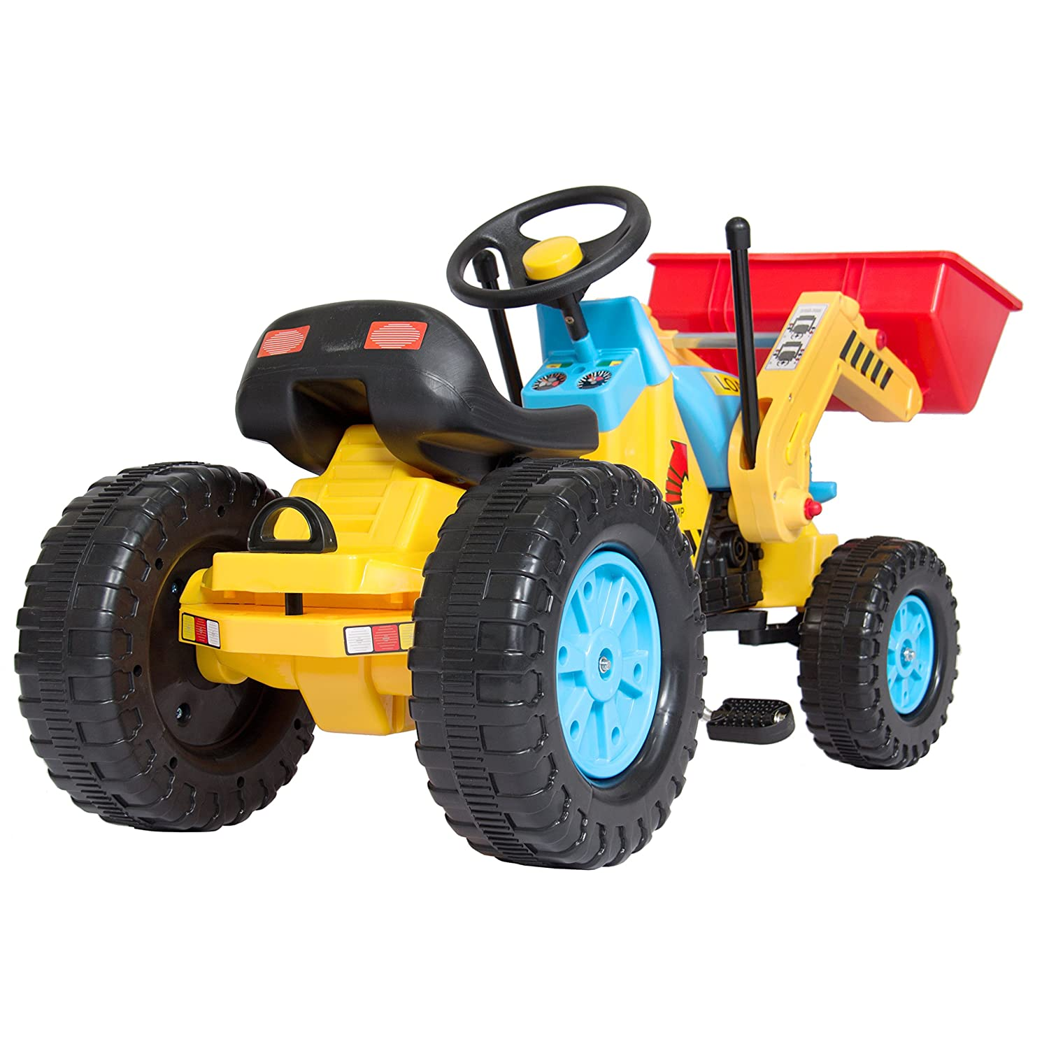 amazon com best choice products kids pedal ride on excavator