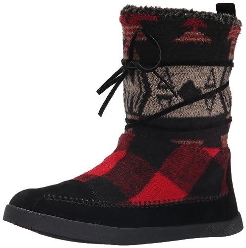 Madden Girl Women's Jackmen Winter Boot, Black/Multi, ...