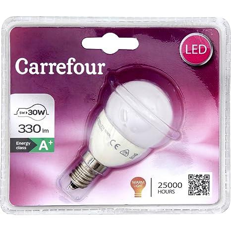 Carrefour 3610882133320 5W E14 A+ Blanco cálido - Lámpara LED (Blanco cálido, Blanco,