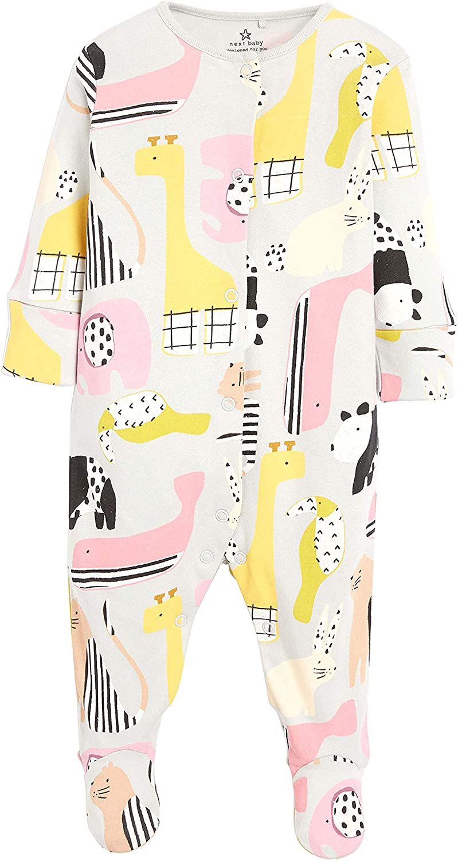 next Baby M/ädchen Pyjamas mit Motiven und Tupfen 2er-Pack