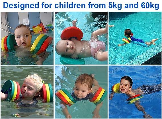 hongwo discos de flotador de natación brazo, Eva espuma brazo bandas para swimming-6 piezas, Amarillo/Verde/Naranja: Amazon.es: Deportes y aire libre