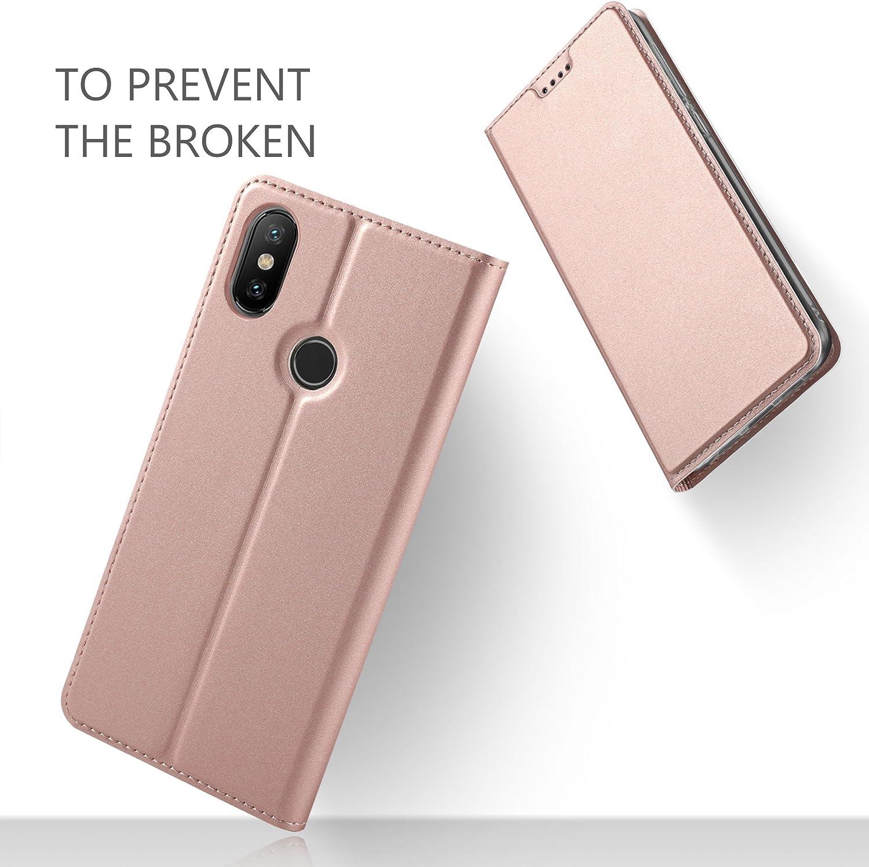iBetter XiaoMi Mi 7 Funda, Flip Cover Carcasa PU Silicio ...