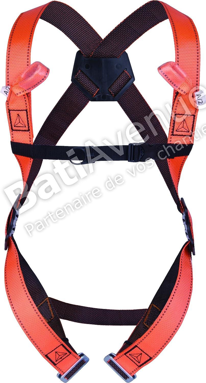 Delta plus Harness Anti-fall system - Anti-fall Harness, 2 hook points (orange)