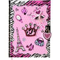 SMITCO Diary for 5 to 12 Year Old Girl Gifts - Secret Pink Hardcover Writing Journal - 300 Double-Sided Lined Pages Book, a Cute Heart Shaped Lock and 2 Silver Keys to Keep Her Dreams Safe