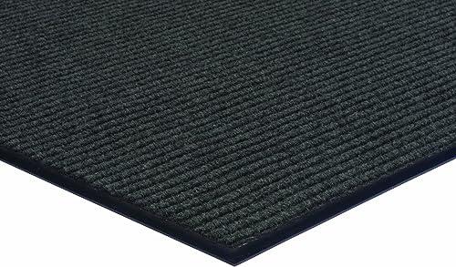 Herco 3 x 4 Indoor Outdoor Ribbed Carpet Entrance Mat – Grey
