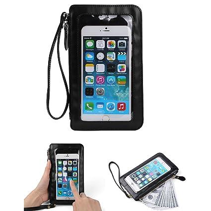 Amazon.com: Ligero cartera Teléfono Celular Bolsa de hombro ...