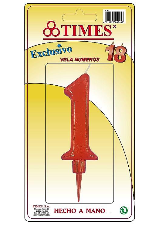 Times Vela DE CUMPLEAÑOS Gigante Nº 1: Amazon.es: Hogar