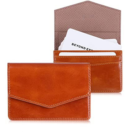 Amazon www genuine leather business card holder business card www genuine leather business card holder business card case with magnetic shut for men women colourmoves