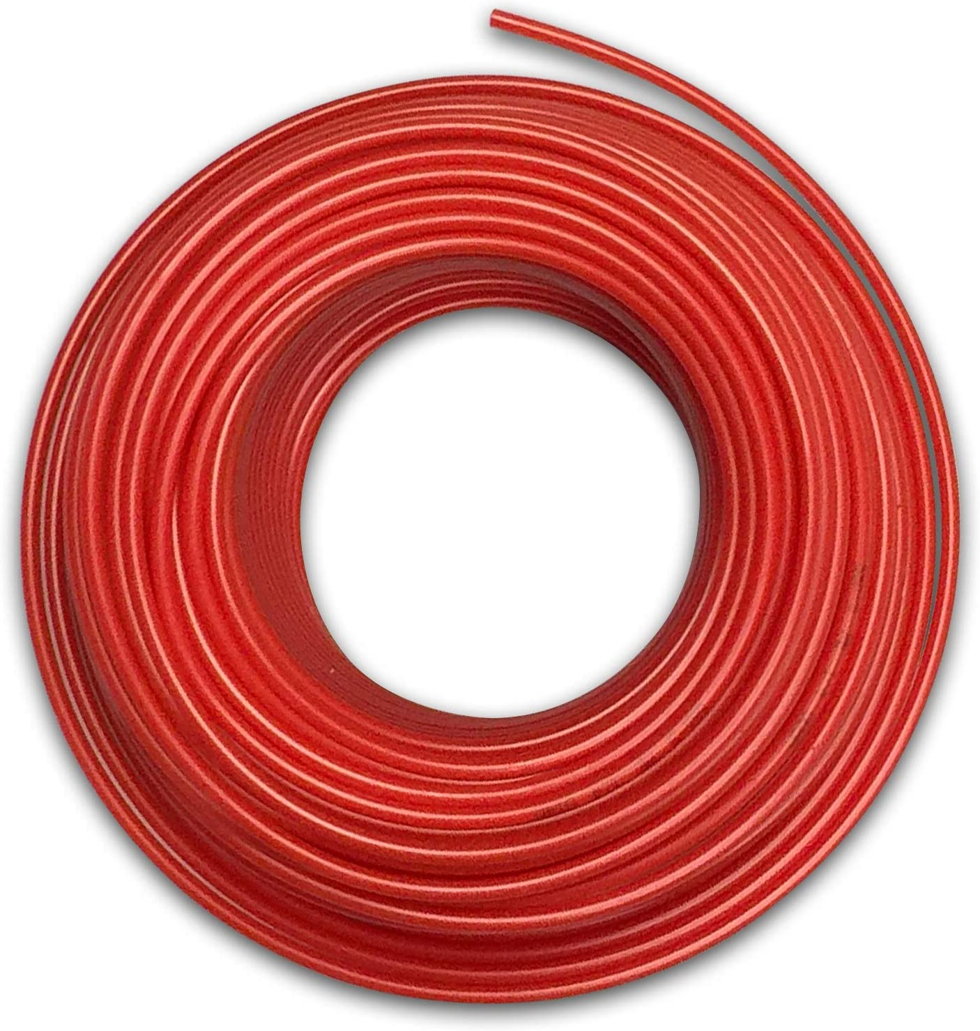 Food Grade 1/4 Inch Plastic Tubing for RO Water Filter System, Aquariums, Refrigerators, ECT; BPA free; Made from FDA compliant materials and meets NSF Standards and Regulations (50 Feet, Red)