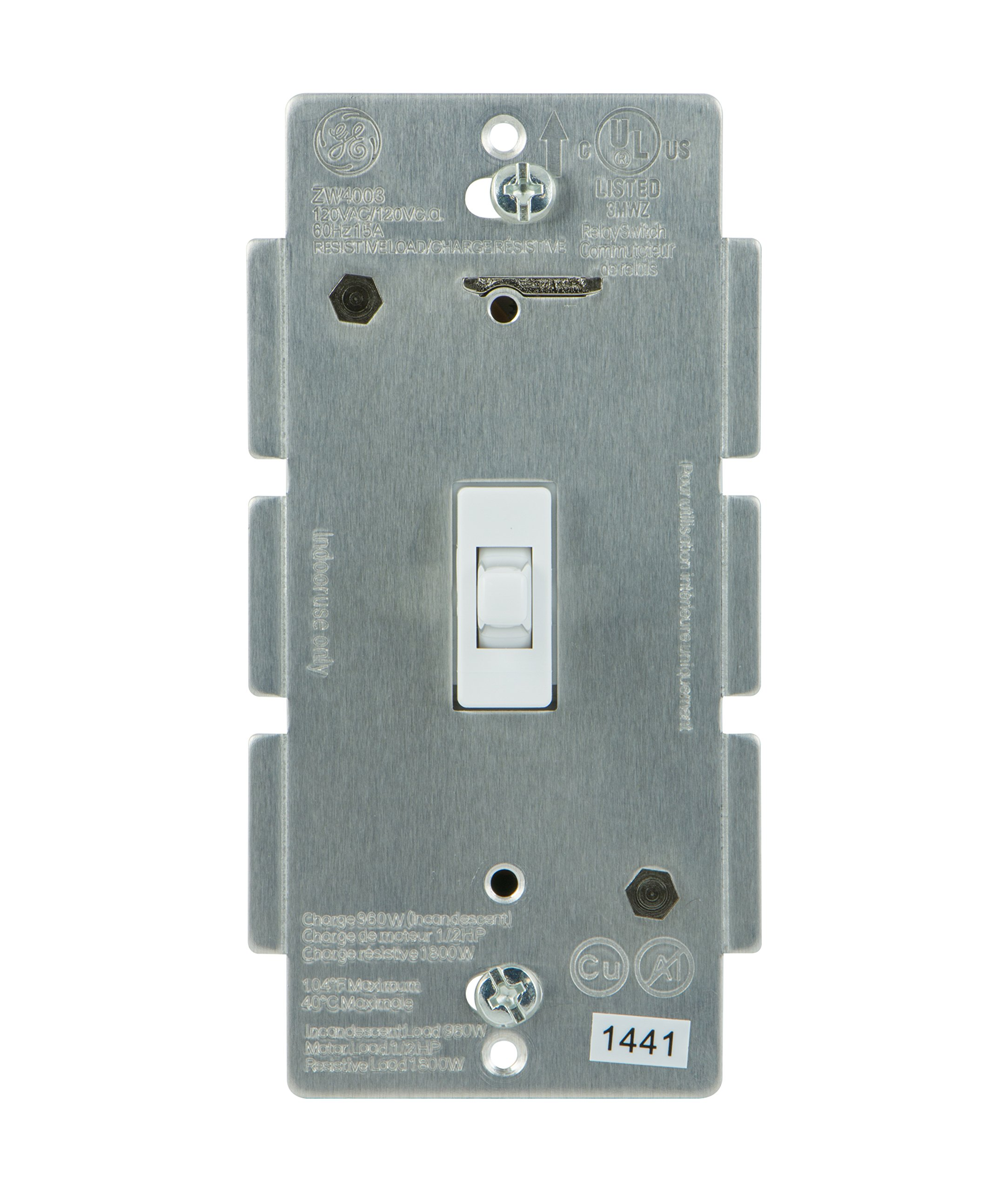Wall Sconce With Toggle Switch : GE Z-Wave Wireless Lighting Control Smart Toggle Switch In-Wall White 12727 eBay