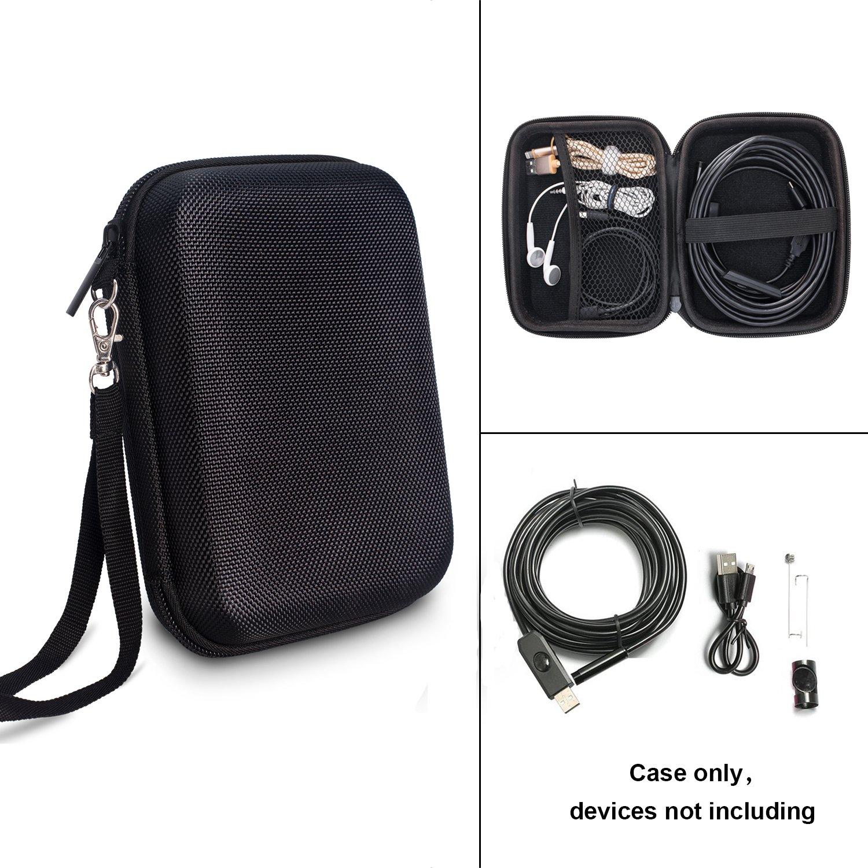 Endoscope Case, TyhoTech Borescope Camera Case for Depstech USB Endoscope, also for Goodan, Shekar, Pancellent, Fantronics, Sokos, Maximum Length of 5M Cable (Black) by TyhoTech