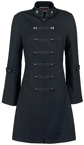 Jawbreaker Chaqueta Militar Abrigo Mujer Negro