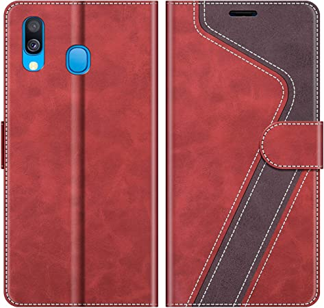 Mobesv Handyhülle Für Samsung Galaxy A40 Hülle Leder Elektronik