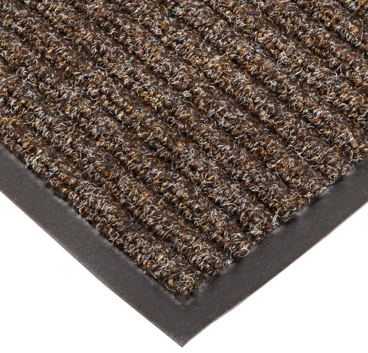 NoTrax T39 Bristol Ridge Scraper Carpet Mat, for Wet and Dry Areas, 3' Width x 10' Length x 3/8'' Thickness, Coffee