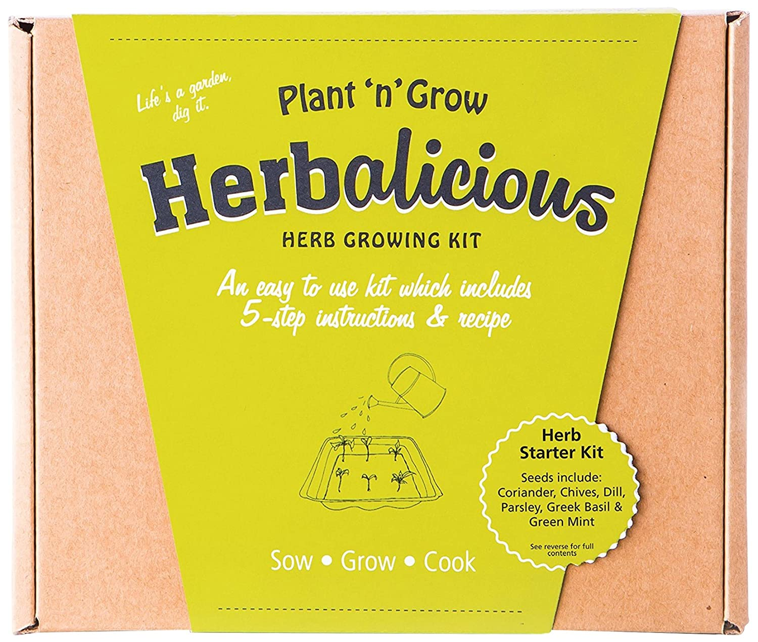Unwins Kitchen Garden Herb Kit Plant N Grow Herbalicious Herb Starter Grow Your Own Kit Amazon