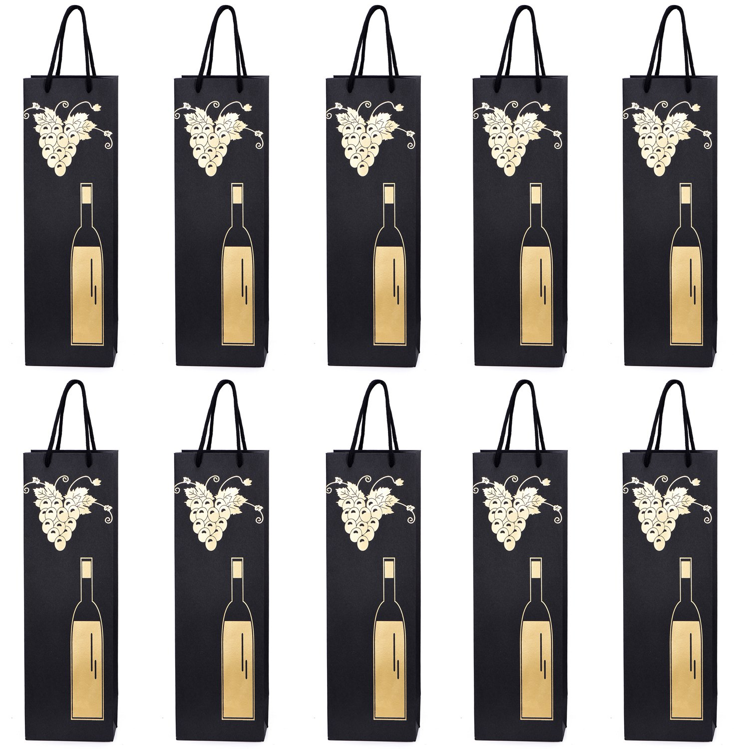 10 gift bags bottle bags for wine prosecco and champagne 15.75 x 4.72 x 3.54 inch - 40 x 12 x 9 cm - Congratulations II Tradict GmbH