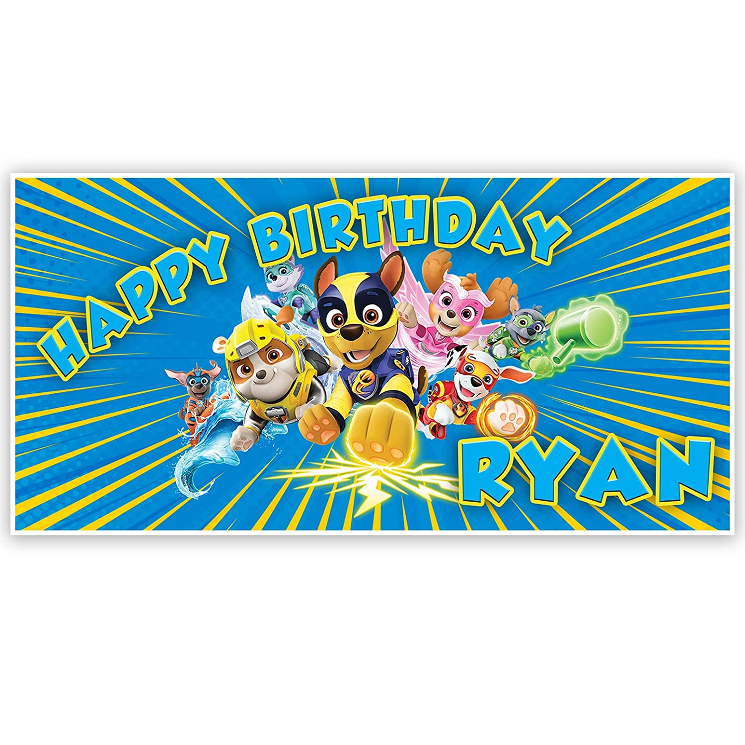 Mighty Pups Birthday Banner