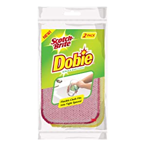 Scotch-Brite Dobie Scrub & Wipe Cloth, 2 Count